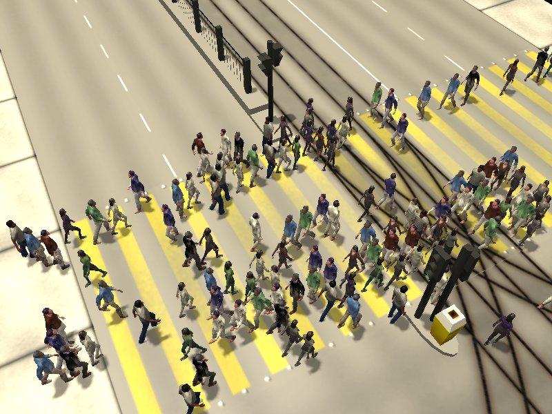 Crosswalk simulation #5