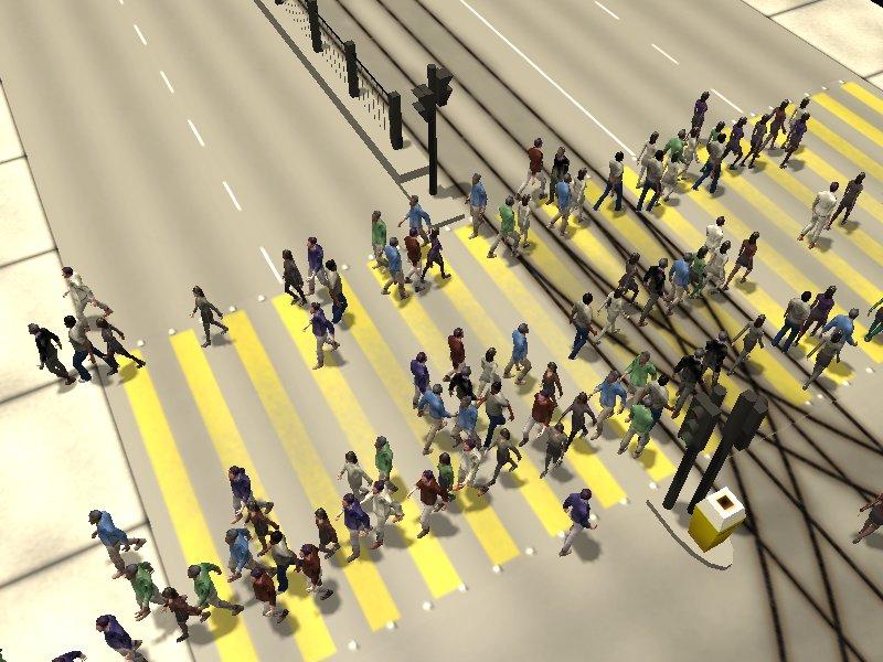 Crosswalk simulation #6