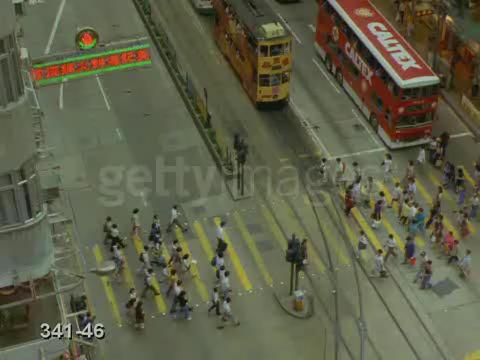 Video of a crosswalk in Hong Kong #1