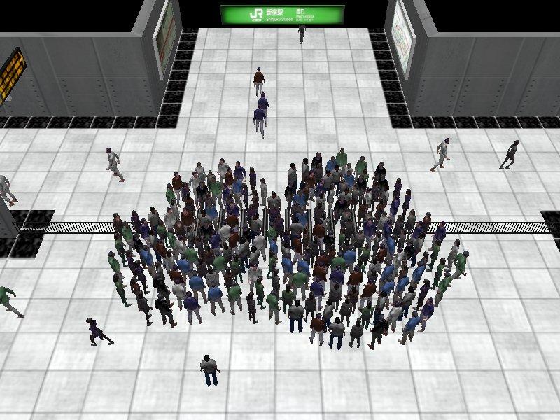 Subway station simulation #1