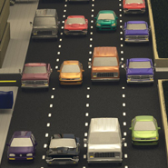 Traffic simulation, reconstruction, and route planning